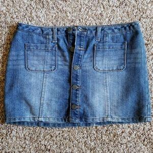 Mini bluejean button up skirt - NWOT